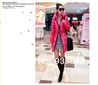 Женские пуховики, Куртки 2013 Winter Long Down Coat With A Hood Fashion Slim Women's Wadded Parka Jacket Outerwear