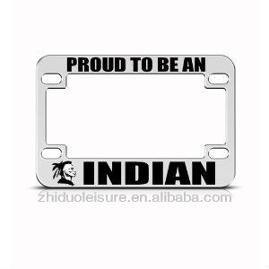 Full color motorcycle license plate frame