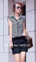 Женские шорты 2012 summer new fashion personality striped jumpsuit