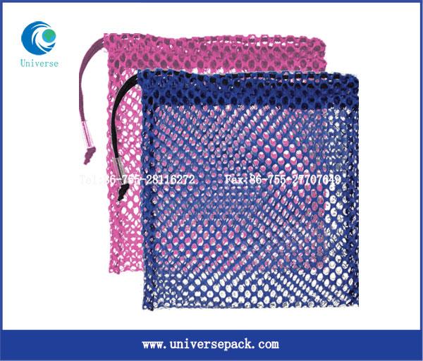 Hot selling storage mesh bag drawstring for mountaineering