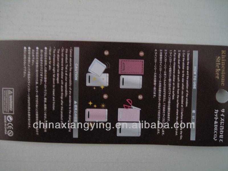 2014 Fashion promotional diamond mobile phone sticker