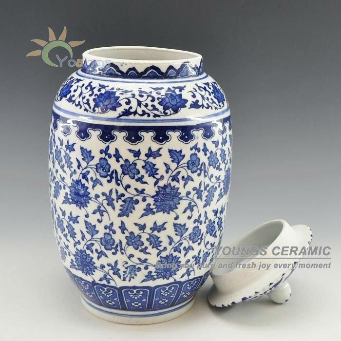 jingdezhen blue and white ceramic jar for home decor view. Black Bedroom Furniture Sets. Home Design Ideas