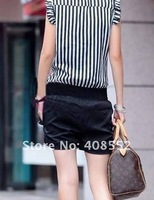 2012 summer new fashion personality striped jumpsuit