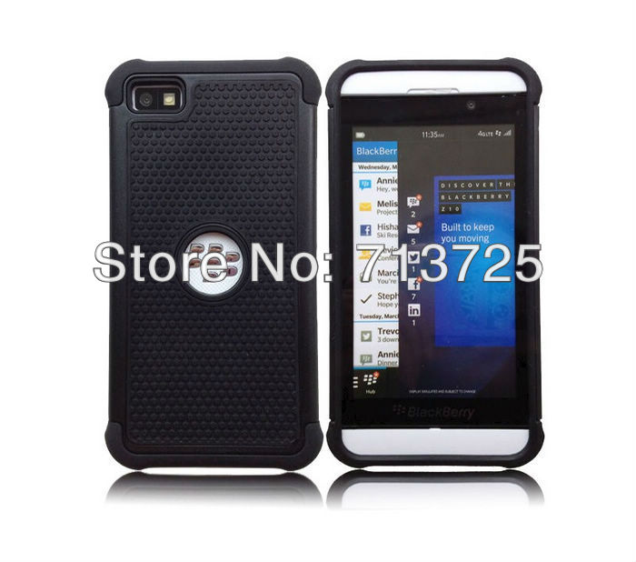 NS-167 Black Berry Z10 3 in 1 Case PC + TPU + Silicon -12