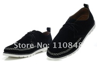 Мужские кроссовки 2012 New men's British Institute leiure shoes, fashion leather shoes, popular footwear anti-fur+ soft Bottom+Cheap