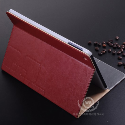 Bussines flip stand with credit card slots fashion leather case for ipad air