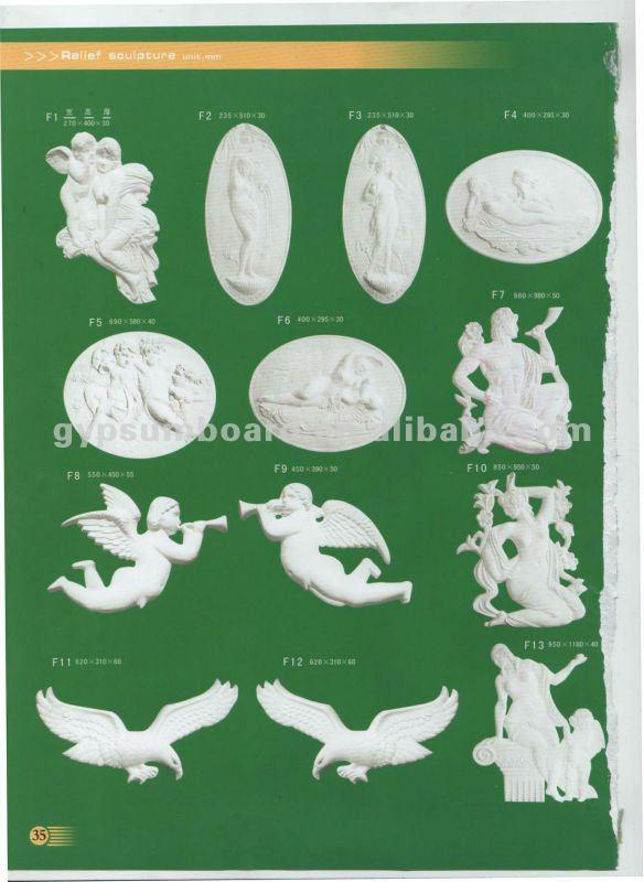 white decorative gypsum ceiling cornice design