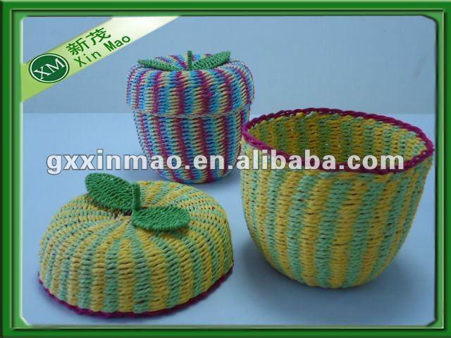Paper Basket Design Apple-shaped Paper Basket For