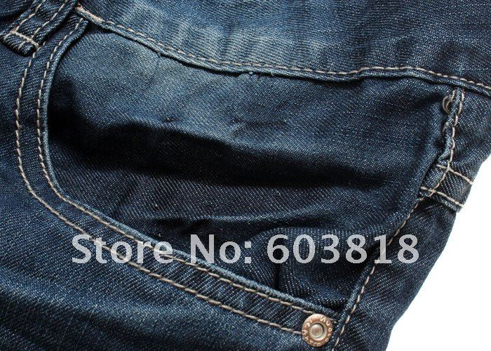 The latest N*udie Jeans blue water pressure knit fashionable men's cultivate one's morality straight bottom Jeans