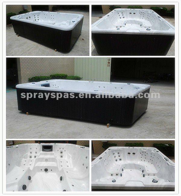 Grande taille acrylique bains à remous baignoire, Spa de