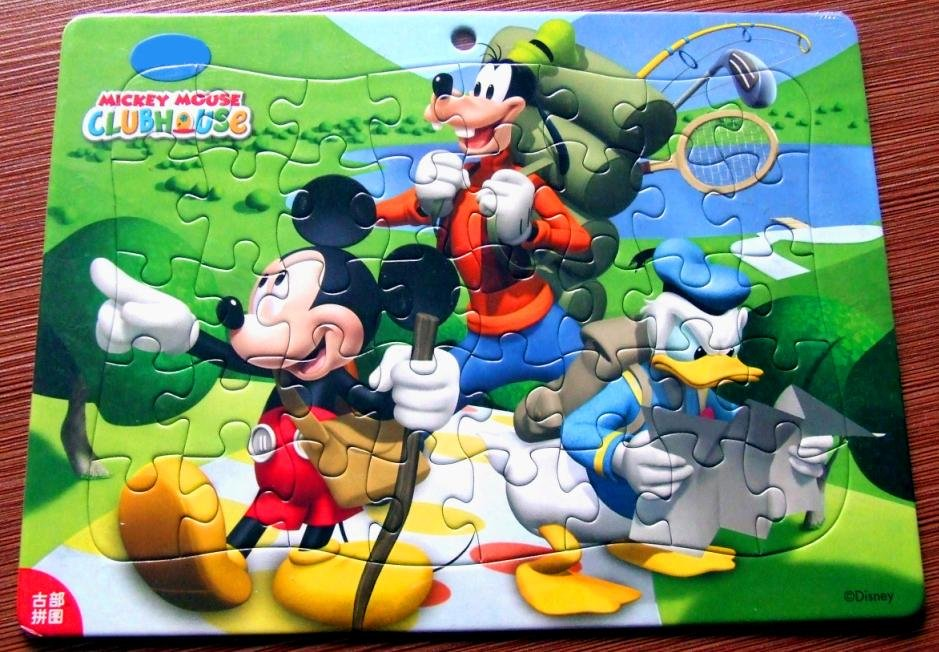 cartoon paper jigsaw puzzles toy