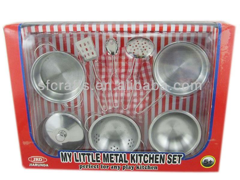 cocina juguetes set metal cocina play set vajilla de acero inoxidable set de juegos