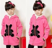 Кофта для девочки Spring and autumn girls' outerwear, children cartoon sweatshirt Wear on both sides# E097