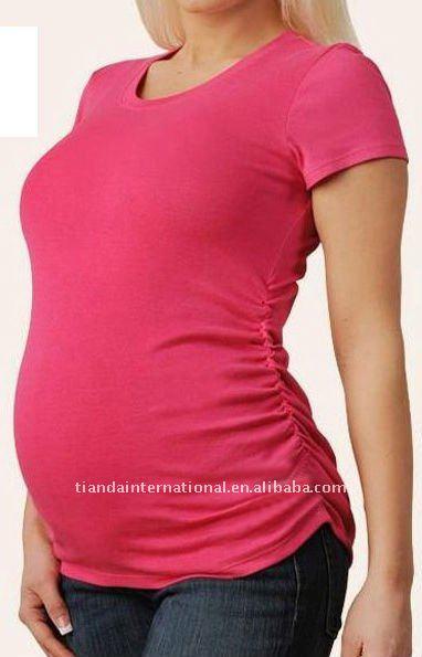 Fashion Draped Sides Maternity Top