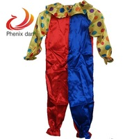 free shipping Kids Dotted Unisex Clown Circus Fancy Dress Jumpsuit Costume Halloween Party