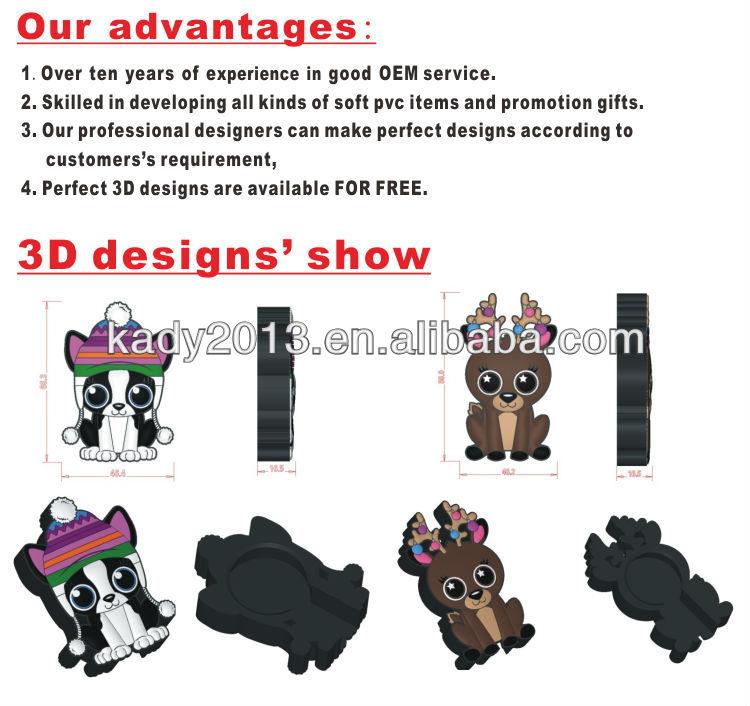 3d fridge magnets/rubber fridge magnet/pvc fridge magnet