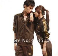 wholesale Brand new women's long-sleeve tracksuit sport suits men's tracksuit lesure suits jacket+pants clothing set uniforms