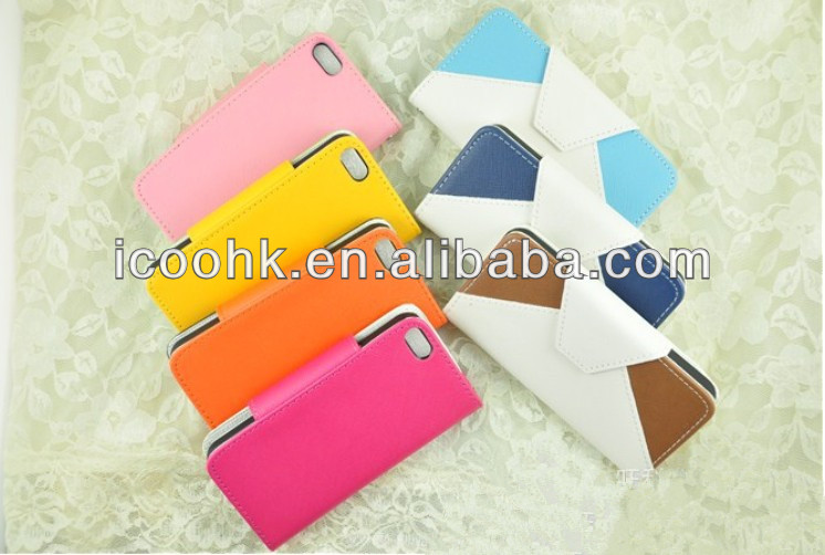 Newest pu leather case for iphone 4s , iphone 5s