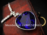 Цепочка с подвеской Ocean Heart necklace with Swarovski crystal drop on it, by CPAM on