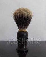 Кисть для бритья Finest Pure Badger Hair Shaving Brush Black Plastic Handle beard brush