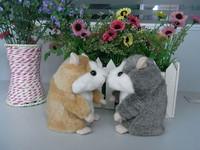 Россия Английский выступая говорящий хомяк плюшевые игрушки, хомяк, говоря животных повторить слова любого языка 2 цвета