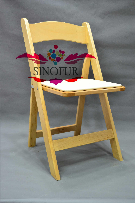 blanc chaises pliantes en bois bon marché pour la vente