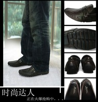 Мужские мокасины Custom Logo, Men loafer Shoes, 100%Leather Guaranteed, Causual Shoes[KC0042