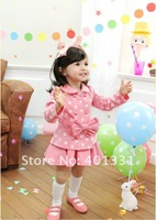 Комплект одежды для девочек Girls Little Butterfly Pink Two-piece Clothing Sets, Coat+Skirt, Baby clothes, Factory Price
