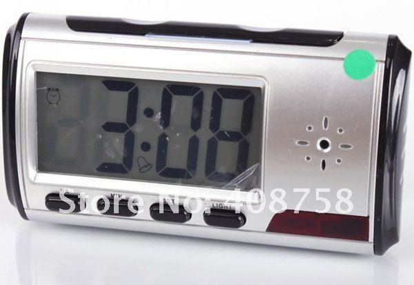 BY DHL OR EMS 100 pieces Digital Clock Hidden Camera DVR USB Motion Alarm free shipping