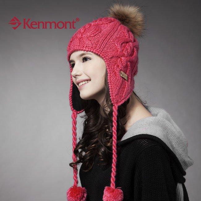 100% artesanía de punto de invierno con orejeras Beanie gorros de .