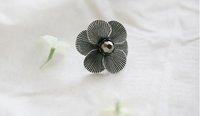 Min Order 12$ Fashion Jewelry Vintage Cascade Flower Petal Design Ring Colored Sliver & Bronze JZ0055