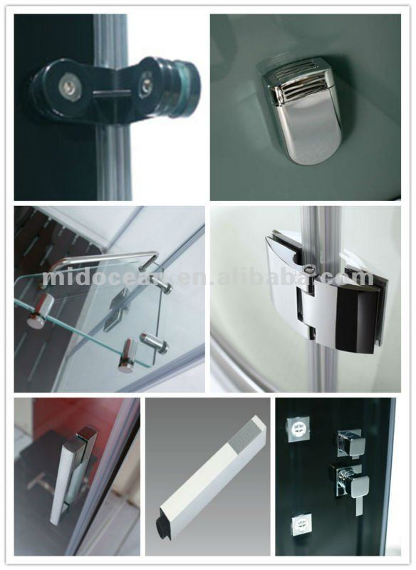 M-A6023 tempered glass silicon free frameless steam shower