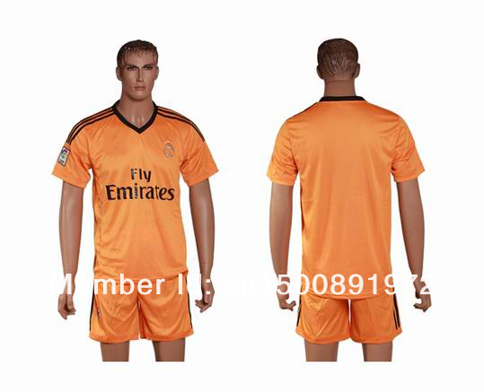 2013-2014 Real Madrid goalkeeper orange jerseys.jpg