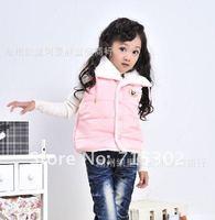 Жилет для девочек fashionable girl's cotton clothing wear autumn winter children's vest