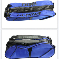 Дорожная сумка li-ning badminton bag: 2013 blue 6 loaded racket bag, Waterproof, insulated, Lining ABJG058