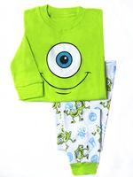 retail, Free shipping, frog pajamas ,boys &girls long sleeve cotton pajamas  XW-08
