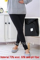 Hot wholesale!!! Free shipping high quality soft and comfortable adjustable button thermal maternity leggings
