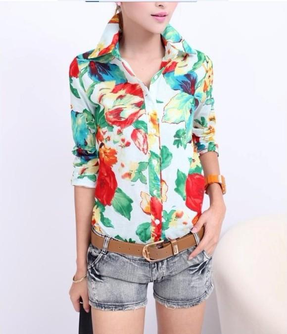 Свободные Блузки Из Шифона Ярких Цветов