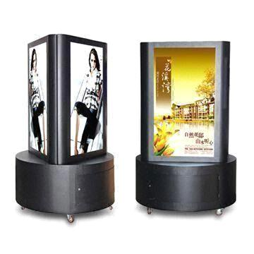 42 inch three sides lcd kiosk with caster