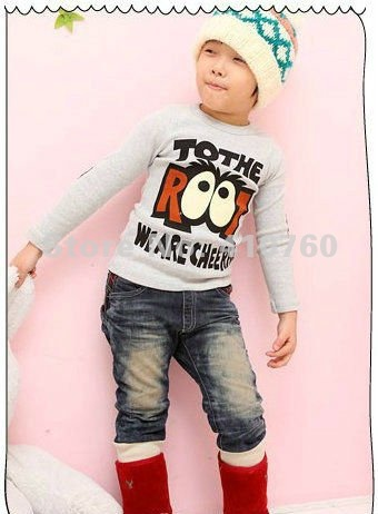 wholesale cotton children's clothes girl Glasses fashion T-shirt girl's boy's Primer shirt blouses top shirt free shipping