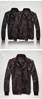 2012 excellent quality, top grade elegant fashion cool mens leather jacket coat