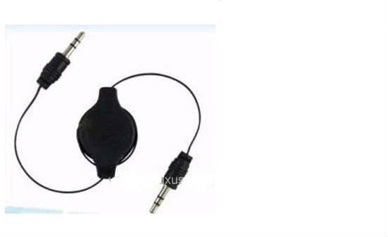 2012 free shipping 100pcs/lot Retractable Audio Aux Cable for iPod iPhone 4 G 4th Gen AUC-3