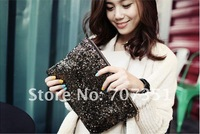 Free shipping Dazzling Glitter Sparkling Shiny Sequins Evening Party Bag Handbag Clutch