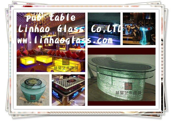 led glass table, bar furniture