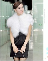 Женская одежда из меха Holiday Sale Winter Fox Hair Waistcoat Temperament Stand Collar All Match Fox Fur Vest Slim Faux Fur Short Style