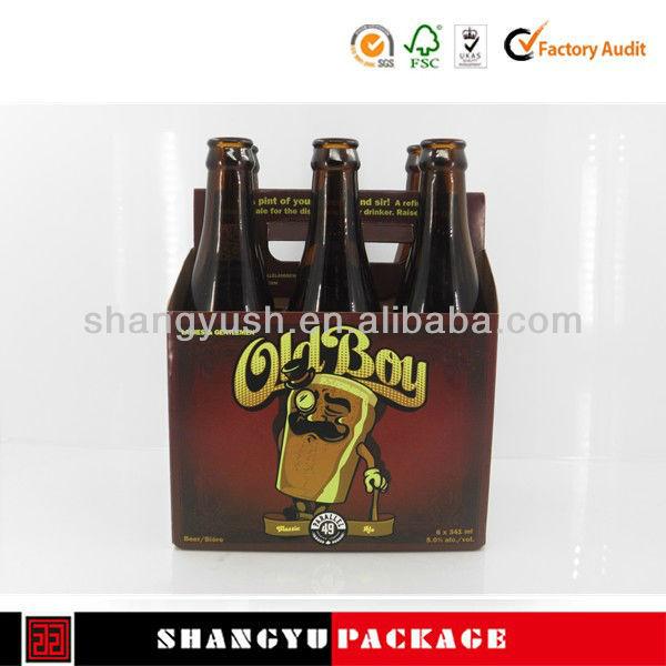 Custom printing six pack beer box,Six pack carrier for australia market