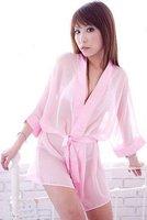 Women's Sleep Robes Sexy Pajamas Lingerie Transparent dress A014