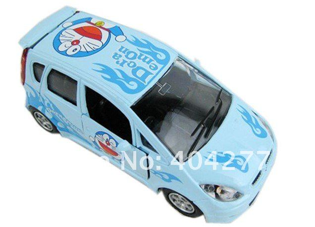 Free Shipping,Doraemon cartoon Pull Back openable door car alloy toy car model,Length:12cm,4.728inch