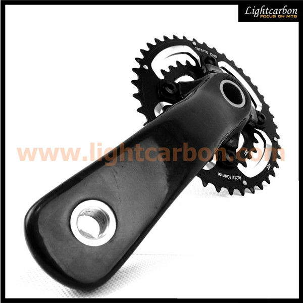 LIGHTCARBON full carbon MTB crankset, carbon bicycle parts paypal, carbon bicycle crank