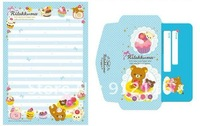 Бумага для писем Lovely Small Pooh Envelope Writing paper Suit 2envelope+3Writing paper 9colors